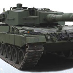 The Leopard 2A4 tank has superior fighting capabilities.