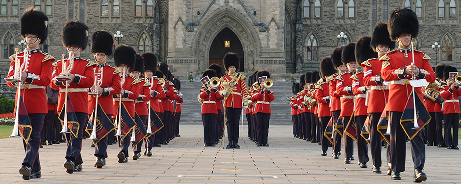 Slide - Ceremonial Guard members perform in the 2014 Fortissimo